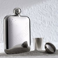 Wholesale Stainless steel hip flask sliver high quality Hand made oz mirror finish hip flasks Hot Sell HHA938