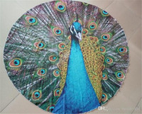 Wholesale 2016 Hotest Indian Decor Mandala Tapestry Boho polyester Round Beach Throw Peacock Printed Yoga Mat Wall Hanging Large Shawls BKT097