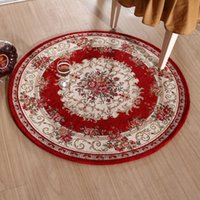 american living brand - Brand Classic Red Carpets And Rugs For Home Living Room Round Rug Slip Resistant Rugs And Carpets Circle Floor Mats cm