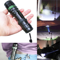 Wholesale High Power CREE Q5 LED Flashlight Lumen Torches Zoomable Flashlight Adjustable Torches Zoom Light need xAAA or x