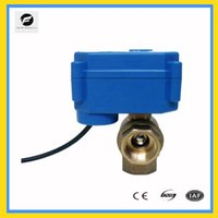 Wholesale CWX S DN15 brass way motorized ball valve DC12v CR02 three wires electric ball valve with manual override function for water filte