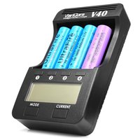 Wholesale NEW ARRIVAL VariCore V40 Intelligent Battery Charger Channel LCD Display Compatible with Li ion Ni MH and Ni Cd batteries