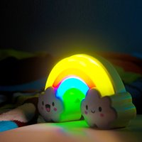 asia green energy - Factory direct energy saving LED light induction lamp warm voice cartoon lovely rainbow lamp