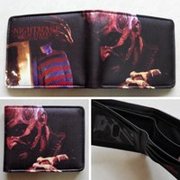 american elm - a Nightmare on Elm Street Freddy Krueger Logo wallets Purse Multi cm Leather