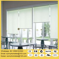 Wholesale Sunscreen fabric motorized roller blinds with wireless remote control m width m height size customed acceptable