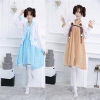 Wholesale Vintage Kimono Cosplay Costume Japanese Anime Maid Dress Fancy Lolita Dress for Halloween Party Game Costume Chinese Hanfu Style