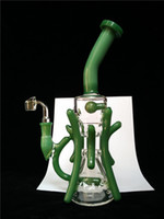 imports - USA imported color glass bong High quality Glass rig recycler glass water pipes oil rigs dab rig mm female joint