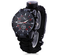 Wholesale Multifuctional in Survival Bracelet Compass Watch With Hiking Colors For Outdoor Hiking