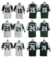 authentic jets jerseys - HOT SALE Men s Jets Elite Football Jerseys MARSHALL REVIS MANGOLD High Quality Stitched authentic Two Colors Allowed
