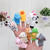 Wholesale 10lots Puppet Cartoon Finger Puppet Finger Toy Finger Doll Animal Doll Baby Dolls for children set