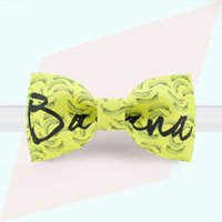 bananas bow tie - Men and women are bow tie Linshe Gold Wedding Gown Dress Tie bow tie BANANA