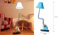 Wholesale cute elephant type floor lamp cartoon lamp bedroom living room children s room rustic fabric lamp reading lamp nightlights
