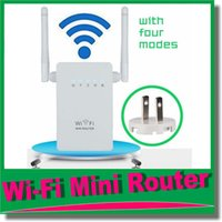 Wholesale 2016 Brand Mbps Wireless Wifi Reapter Router Wireless Range Extender Expander Wifi Signal Amplifier Repeater Enhance US EU Plug OM CI7