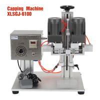 Wholesale XLSGJ Desktop Medical bottle capping machine chemical Cosmetic round capping machine bottle lid locking machine