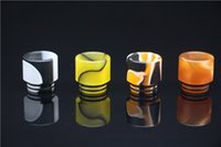 able covers - Wide Bore Mouthpiece Epoxy Resin Drip Tip for Cover Caps Battle Cap AV able Kennedy TFV8 Limitless RDTA e cigs RDA
