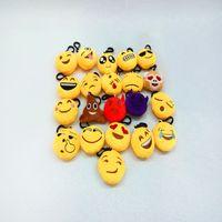 Wholesale New Style Emoji Toys For Kids Emoji Keychains Mixed Emoji Keyrings Bag Pendant Creative Plush Toy Doll Accessories