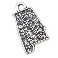 alabama map - Jewelry Making Accessories Alloy American State Of Alabama Map Shape Charms Pendant AAC052