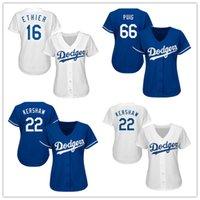 Wholesale Cheap New Women s Dodgers Seager Ethier Kershaw Gonzalez Kemp Valenzuela Baseball Jersey