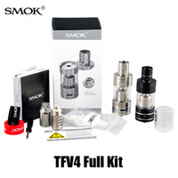 Replaceable 5ml Metal SMOK TFV4 tank clone TFV4 full kit vaporizers Smoktech 5.0ml TFV4 Sub ohm Tank VS UWELL CROWN tank Arctic Herakles Zephyrus Trion atomizer