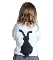 Wholesale Baby Girl Sweaters Knitting Patterns For Autumn Winter Cute Cartoon Rabbit Design Clothes