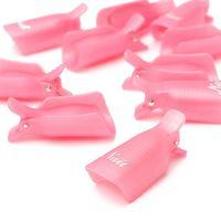 best nail wraps - Best Deal PC pack Plastic Nail Art Soak Off Cap Clip UV Gel Polish Remover Wrap Tool Rose White Purple Color for Women Beauty
