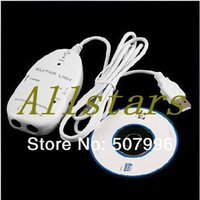 Wholesale PC white USB GUITAR to PC INTERFACE CABLE LINK AUDIO VOCAL RECORDING White D