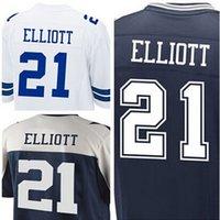 Wholesale 2016 New Dallas Draft Top Quality Ezekiel Elliott Elite Jerseys White blue Men s Stitched Elliott Jerseys size M XXXL