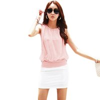 beaded tunic tops - Ladies Women Sleeveless Pearl Beaded Ruched Casual Loose Chiffon Summer Shirt Blouse Tunic Club Party Tops