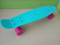 Wholesale 22 inch fish skate board pastel color banana board mini cruiser long skateboard four wheel street longboard
