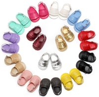 Girl balance strap - 2016 new PU leather tassel balance soft bottom toddler casual sandals infant walking sports turf shoes barefoot sandals free dhl ups ship