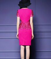 Wholesale Europe and the United States embroidered dress skirt belly show thin bag hip ol skirt step skirt woman