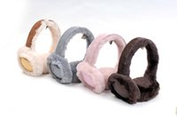 Wholesale Supply Winter Brand Fashion Earmuffs Sequins Wool Bling Bling nice and warm Earmuffs Sequins Brown Grey Pink colors