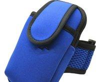 Wholesale Cycling Bags Mobile Phone Arm Bag Wristlet Running Bag Arm Band Unisex Blue Green Medium