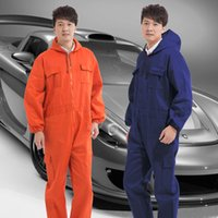 Wholesale Coveralls mechanics Dustproof long sleeved Velcro suits Spray paint conjoined protective overalls