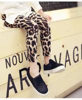 achat en gros de robes de filles léopard mode d'enfants-2016 Nouveaux mode Bébés filles Leopard Leggings enfants Casual long Crayon Pantalons Tight Robes Leggings Boot enfants Jupes Legging