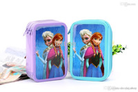 Wholesale Frozen stationery box pen box Pencil Bag suite girl Pencil Bag available from stock size cm