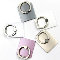 Wholesale Top Grade Fashion Universal Cell Phone Ring Stent Holder Metal Rings Stand Mount Holders Finger Grip Stand Retail Box MT