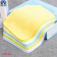 bathroom cleaners - 13 cm gsm Straight Microfiber Cleaning Cloth for Glasses LCD LED Phones Computer Laptop Eyeglasses Wipes Dust Washing Cloth YJB004