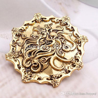 Wholesale Song of Ice and Fire Game Of Thrones Golden Lion Ancient Brooch vintage pin film movie jewelry qqzq