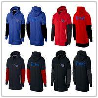 american titans - Tennessee cheap Titans Hooded zipper unlined upper garment hoodies American football hoodies cheap men Sweatshirts size M XL