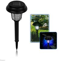 Wholesale KEEPING in Solar UV Mosquito Killer Lamp Insect Fly Bug Pest Control Garden Landscape Outdoor Yard Lawn LED Light