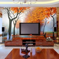 Wholesale Natural landscapes D TV background wallpaper mural wall stickers living room sofa