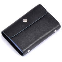 Wholesale 26 slots business leather card holder Fashion quality card cases wallets