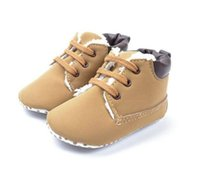 Wholesale Wendy Wu Baby Boy s Brown Warm Snow Short Boots First Walkers Shoes