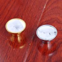 bedside drawers - Dia mm clear glass drawer shoe cabinet knobs pulls silver gold dresser win cabinet bedside table door handles knobs crystal