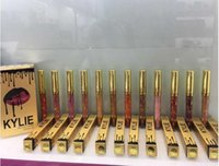 Wholesale 12 Kylie Lord Metal Matte Lipstick LEO CANDY K kylie jenner lipstick Kylie Birthday Limited Edition Gold Lip Gloss shipped by DHL from Macs