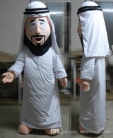 arab beard - SX0727 an Arab man mascot costume with many black beard for adult to wear