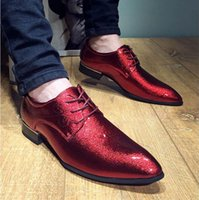 best dress shoe brands men - Best New Fashion Brand Men s Wedding Shoes England Style Pointed Toe Super Bright Lace Up Leather Oxford Shoes For Men Dress