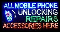 Wholesale 2016 Hot Sale X27 inch indoor Ultra Bright flashing repairs all mobile phone unlocking accessories business shop sign of led