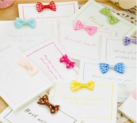 Wholesale Hot Sale Vintage MINI card Small bow thank you cards with envelope greeting card wedding card set Postcard Gift